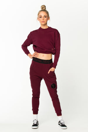 ImSoFierce Sweatshirt - Burgundy