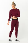 GoalDigger Sweatpants Burgundy w/ Black Waistband