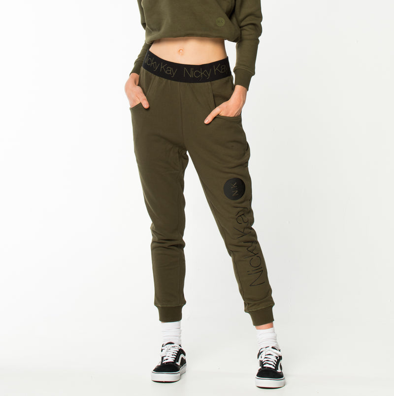 GoalDigger Sweatpants Khaki w/ Black Waistband