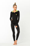 LadyEmpire Jacket - Black w/ Neon Yellow Hood