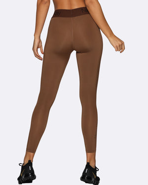 Compression Tights BROWN w/ Brown Waistband