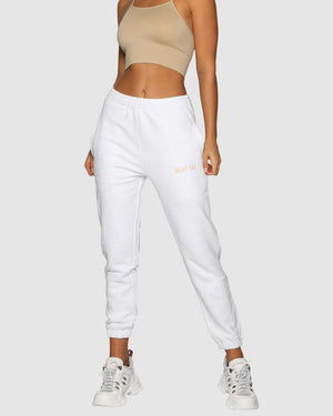 High Rise Pants - White