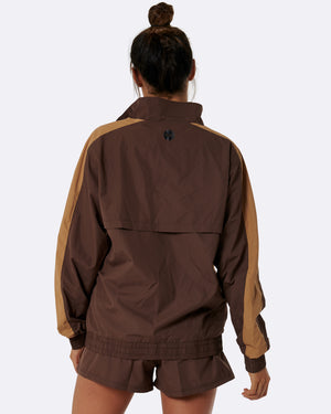 Kay Two Tone Jacket (Brown)