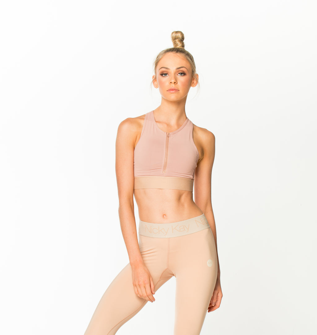 SheHustles Crop Top Blush
