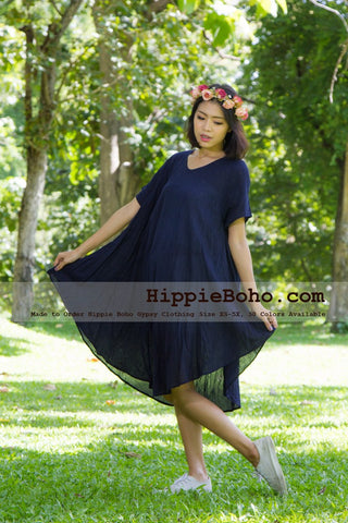 Plus Size Navy Blue Dress