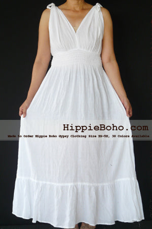 Best Seller 10+ Plus Size White Cotton Maxi Sundresses, Plus Size Boho Sundresses with Sleeves, Plus Size Sundress for Cheap