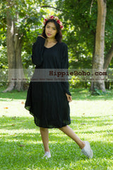 No.002 - Size XS-7X ,30+Colors, Long Sleeve Casual Gypsy Dress Plus Size Clothing