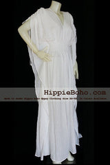 No.013  - Size XS-5X Hippie Boho Caftan White Pagan Greek Maxi Dresses Women's Plus Size Clothing Bohemian Long Dress