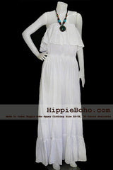 No.024 - Size XS-7X Hippie Bohemian Gypsy Simple Wedding Dress Plus Size Clothing
