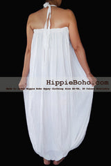 No.471- Size XS-7X Hippie Boho Clothing Gypsy White Maxi Plus Size Strap Dress, Maxi Long White Dress