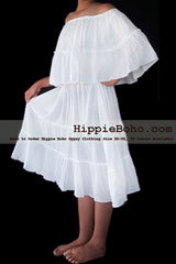 No.474 - Size XS-7X Hippie Bohemian Gypsy Simple Wedding Dress Plus Size Clothing