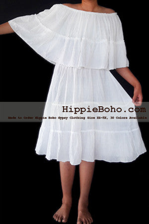 No.474  - Hippie Bohemian Gypsy Simple Wedding Dress, Small,Plus Size Clothing, Maxi Dress, Plus Size Dress, Plus Size Clothing, Plus Size Wedding Dress