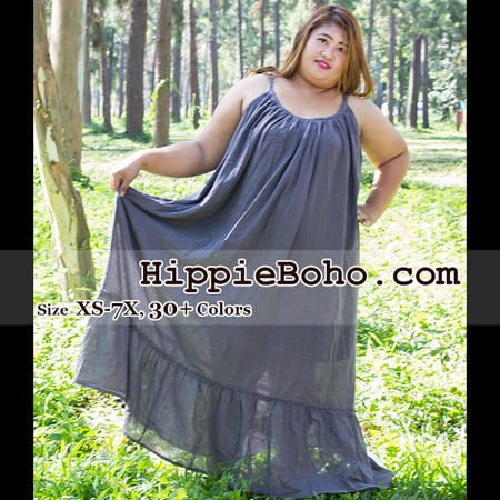 No.162 - Size XS-7X, 30 Colors Available Gauze Cotton Plus Size Hippie Boho Gypsy Dress Handmade Bohemian Attire Bohemian Outfit