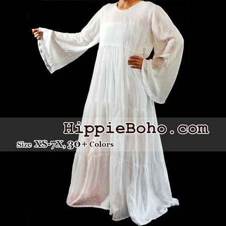 Size Xs 7x 30colors White Long Sleeve Plus Size Maxi Dress