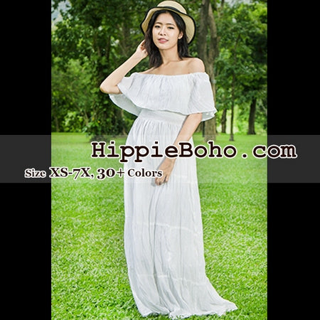 4b2baaf44c No.359 - Size XS-7X Hippie Bohemian Gypsy Wedding Dress, Small,Plus ...