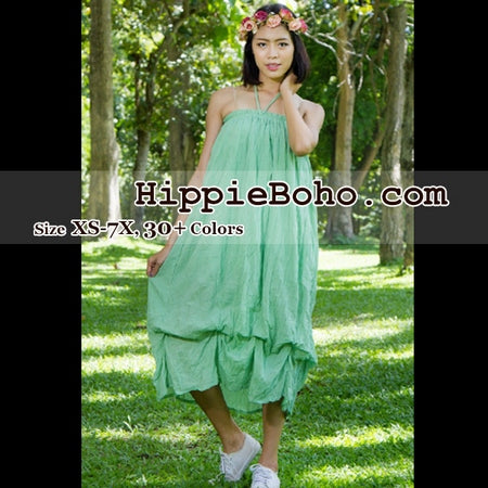 a29d63948f6 No.017 - Hippie Boho Gypsy Mint Green Pumpkin Dress or Maxi Full Long  Length Skirt Plus Size Women s Clothing