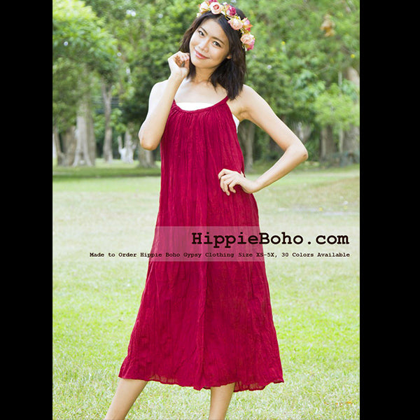 90f9d910681ed No.015 - Size XS-7X Hippie Boho Clothing Gypsy Crimson Maxi Plus Size Strap  Dress Maxi Long Dress