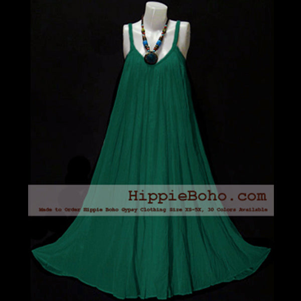 6c1939c585ce No.015 - Size XS-7X Hippie Boho Clothing Gypsy Forest Green Plus Size Strap Summer  Maxi Dress