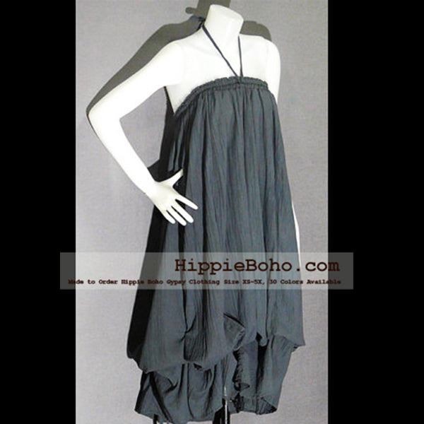 No.017 - Hippie Boho Gypsy Gray Pumpkin Dress or Maxi Full Long Length Skirt Plus Size Women's Clothing
