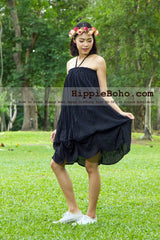 No.017  - Hippie Boho Gypsy Black Pumpkin Dress or Maxi Full Long Length Skirt Plus Size Women's Clothing
