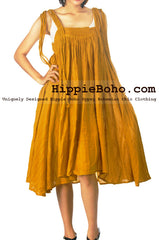 No.503 - Size M-1X Linen and Cotton Elegant Sophisticated Mustard Curvy Plus Size Boho Hippie Maxi Dress