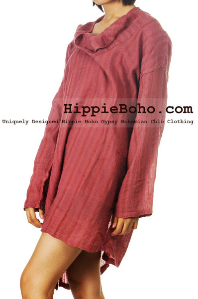 a05fb850979 No.523 - One Size Loose Fitting Long Sleeve Multi Way Blouse Asymmetrical  Hem Pull Over Cowl Neck Hippie Boho Gypsy Funky Top – HippieBoho.com | XS-7X  ...