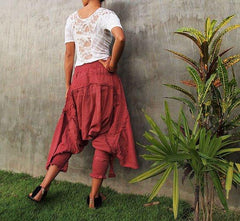 No.1128 Bohemian Outfit Pants/Funky harem pants...Mix silk available in all colour /Funky pants /hippie pants / long pants / (3 sizes M,L,XL)