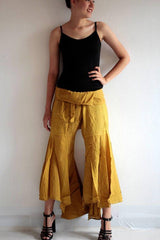 No.148 Bohemian Outfit Pants/Hippie fisherman pants in cotton mixed with silk and rayon in 2 sizes