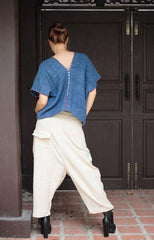 No.138 Bohemian Outfit Pants/Hippie/funky... pants Hemp/cotton adjustable for size S-L