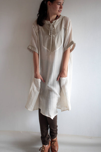 Tunic/ dress  Linen/ cotton  (one size fit most)(03)