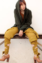 Pants/Funky harem pants...Mix silk (3 sizes M,L,XL) 1128
