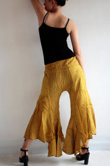Pants/Hippie fisherman pants (148) in cotton mixed with silk and rayon in 2 sizes