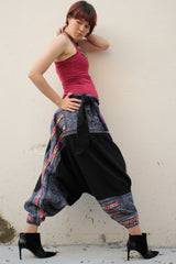 Pants/Harem funky hippie pants 100 % Hemp,hand made