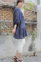 Tunic/Mini dress blouse.. mix silk (XL) 259