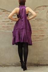 Urban Short dress mix silk Coral red,Green, purple, (195) M