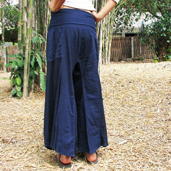Pants Flow fisherman pants...(1480) Fisherman pants/boho/chic/funky/yoga/indigo/elegant/comfortable/ black/long/hippy/holiday/summer