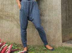 Pants..Funky pants...Jersey cotton Blue Gray ( M,L,XL) (1412)