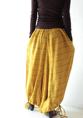 Pants...Mustard /black /dark green/ kaki /capris pant /funky pants /hippie pants  /harem pants /Linen/cotton And all colour
