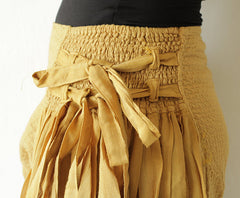 Pants.. Wide Pants cotton mixed with silk in 2 sizes / boho /hippy/ long pants/ wide leg /bloomers(244)