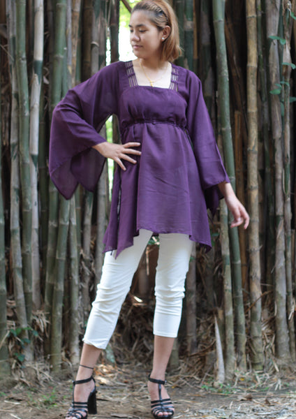 Tunics blouse mix silk size M  ,boho,hippie, elegant,