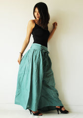 Pants/Wide Pants cotton mixed with silk in 2 sizes(244)