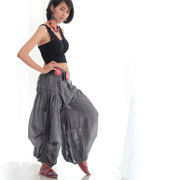Pants/Funky Pant  P1212 elegant cotton mix silk