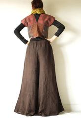 Pants /Linen/cotton brand long pants wide leg pants  (1413)