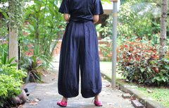 Pants/Wide relax pants 100% cotton Hand  embroidery (136) one size