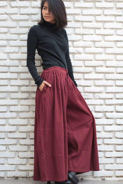 Pants/Wide leg pants, bloomer,long pants P 376   (S-M)