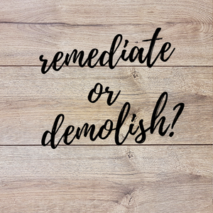 Remediate vs Demolition