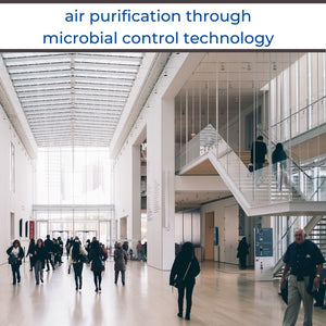 How does SAN-AIR provide risk mitigation for disease transmission in indoor environments via air conditioning?