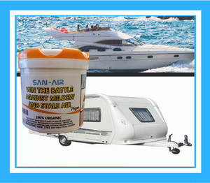 SAN-AIR provides ongoing mould sanitisation for boats and caravans