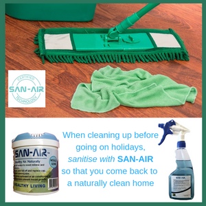Cleaning up before going on holidays?