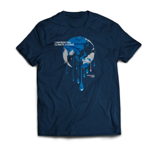 UW360 Confronting Climate Change Blue Round-Neck T-Shirt